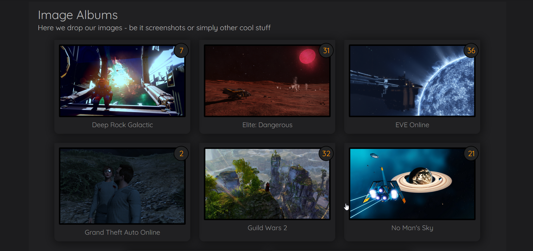 Gallery is now populated
